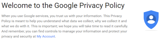 Google Privacy Policy