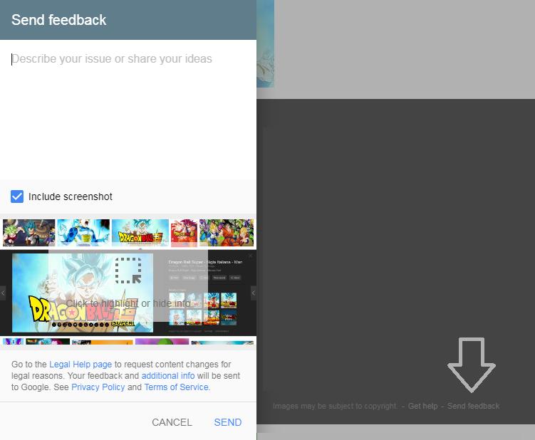 google send feedback